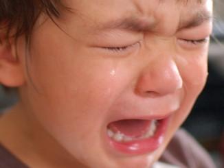 Little boy crying